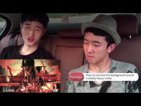 Korean guys react to BABYMETAL - Megitsune [Eng Sub]