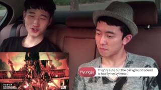 Korean guys react to BABYMETAL - Megitsune [Eng Sub]