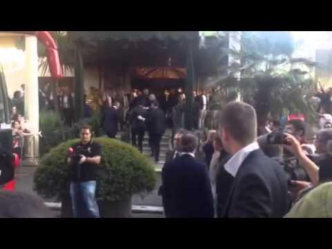 L'accoglienza dei tifosi a Benatia