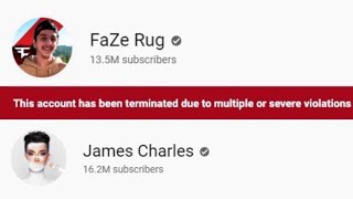 Big YouTubers TERMINATED by mistake...