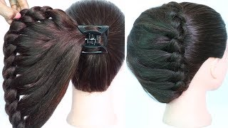 very easy hairstyle using clutcher with trick | braided hairstyles | new hairstyle | easy hairstyles