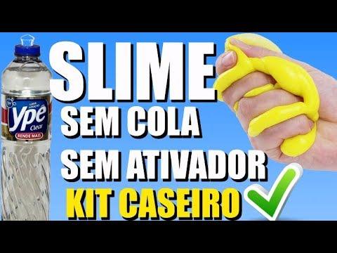 KIT CASEIRO SLIME DE DETERGENTE/ SEM COLA SEM ATIVADOR  NOVO ROSA.