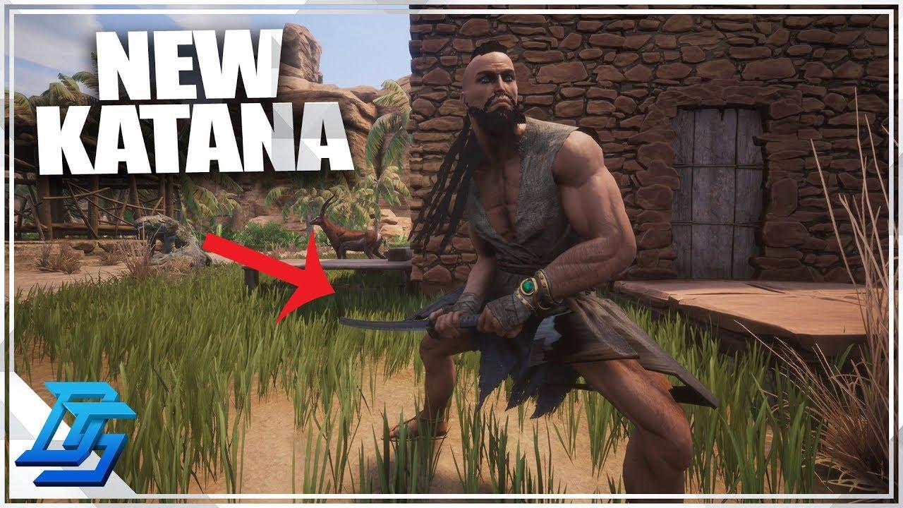 BRAND NEW KATANA! - Conan Exiles Gameplay - Part 5