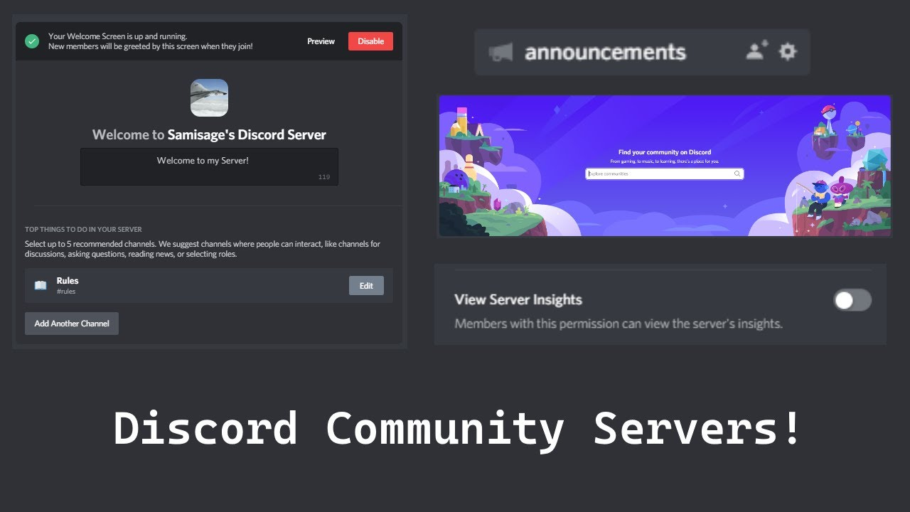 [Free] How to get Announcement Channels, Welcome Pages + More On Discord (Discord Community Servers)
