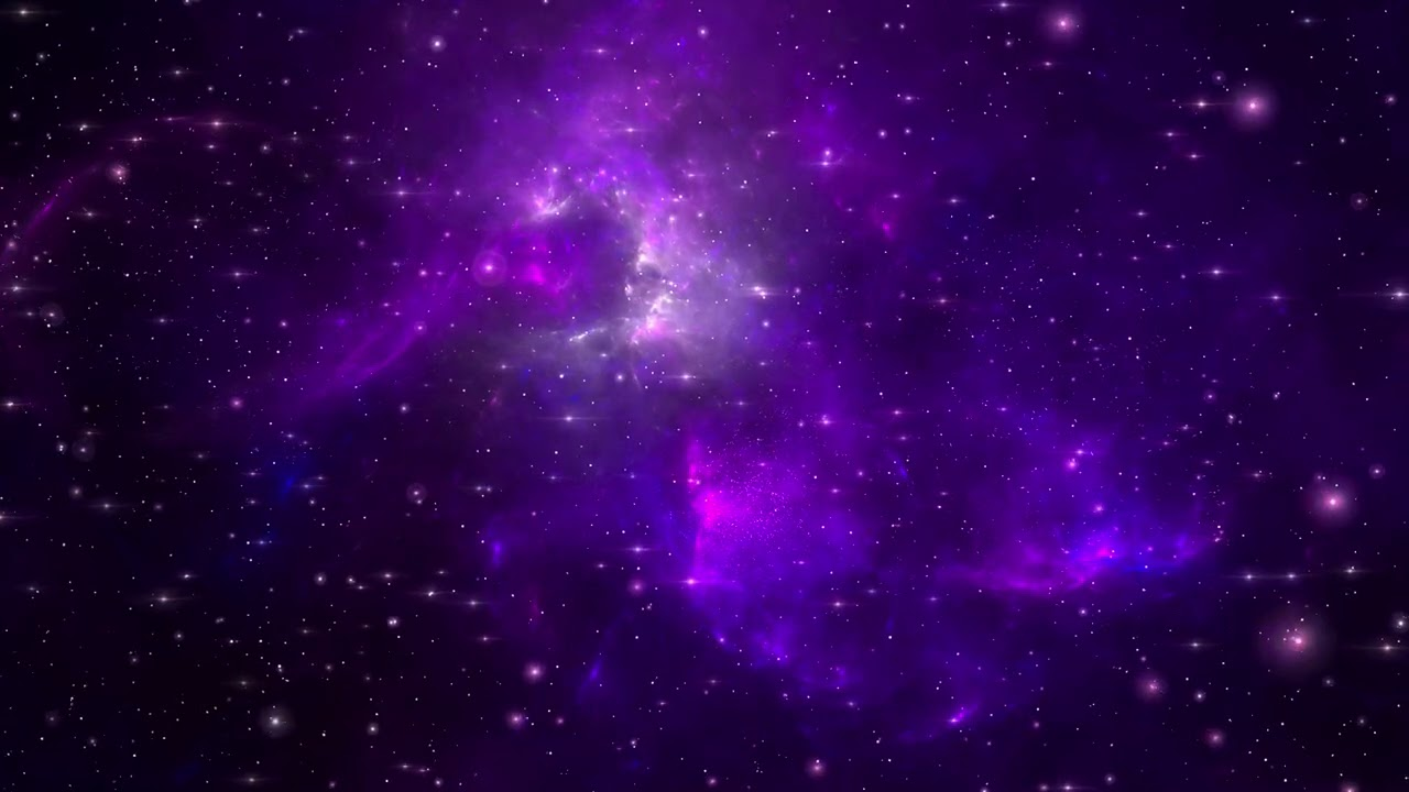 Download Purple Classic Galaxy ~60:00 Minutes Space Wallpaper~ Longest FREE Motion Background HD 4K 60fps