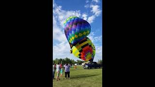 Terrifying hot air balloon incident - Sesquicentennial/Heritage days Chatsworth, IL