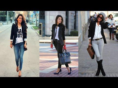 How to wear jeans with a blazer. http://bit.ly/2zwnQ1x