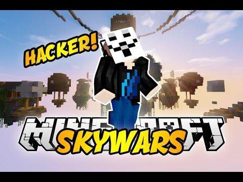 """IM A HACKER!""  Minecaft SKYWARS #65 w/LandonMC"