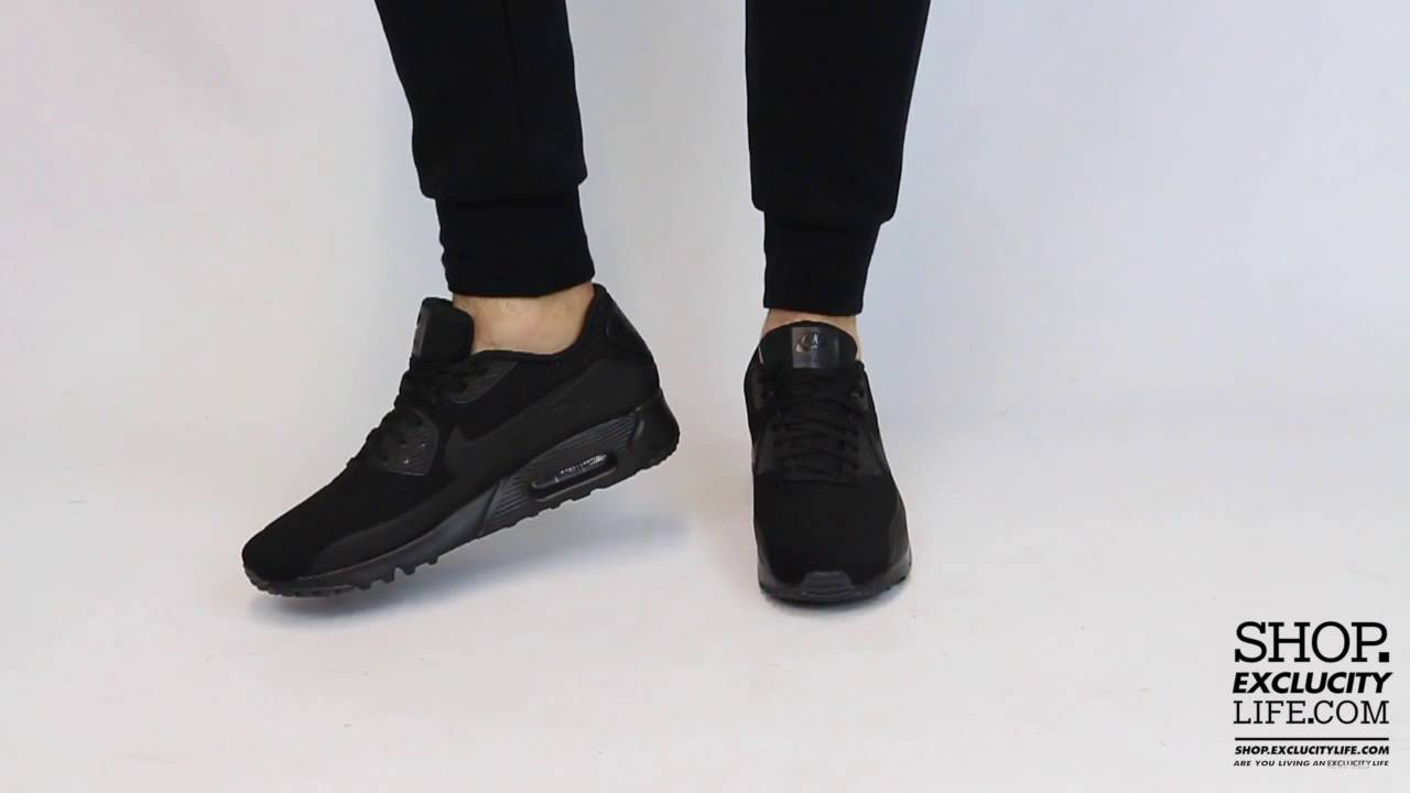 new style 658e0 4b4b5 Nike Air Max 90 Ultra Moire Black On feet Video at Exclucity