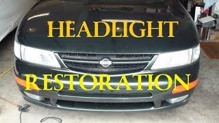Headlight Restoration - quick and easy -