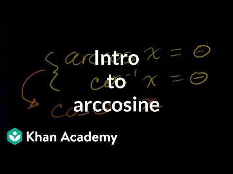 Inverse trig functions: arccos   Trigonometry   Khan Academy