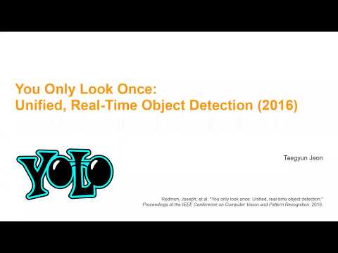 PR-016: You only look once: Unified, real-time object detection