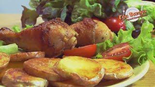 Быстрый ужин из курицы с картошкой
