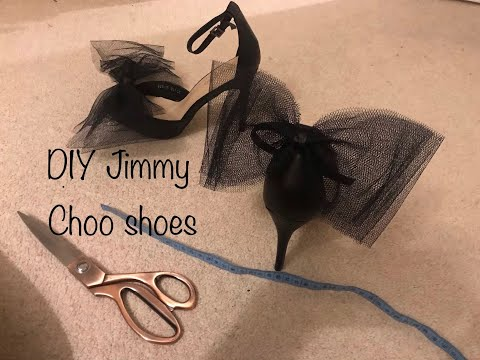 DIY Jimmy Choo Bow Shoes/Sandals/High Heels - Upcycled fashion - designer dupes