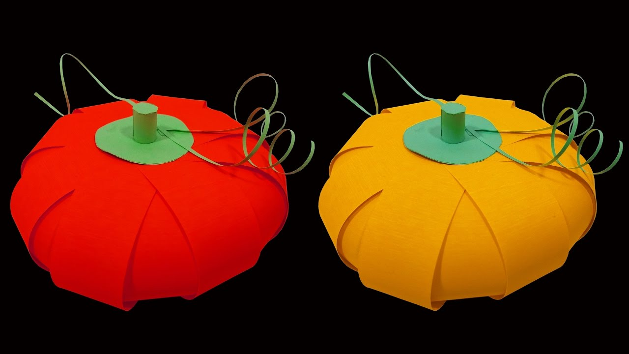 how to make a pumpkin lantern out of paper