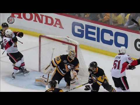 Stone snaps it past Murray 20 seconds after Penguins score