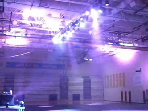 Chicago High School Dance - Lighting Preview to Dubstep / Skrillex