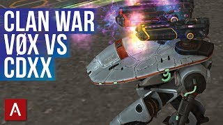 War Robots Clan War - VØX vs CDXX | 1.9 MILLION Damage with Variety Hangar