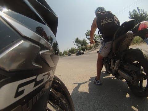 Twist your grip:Gsxr 750 K8 (NIck) + CB Hornet 600 (Valantis) Greece 2014