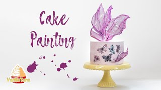 How to make RICE PAPER SAILS and how to PAINTING on CAKE | Cake trend 2020  | VanilleTanz