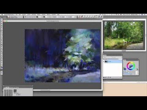 Beginner Fine Art landscape painting #1 – Reference image and canvas setup
