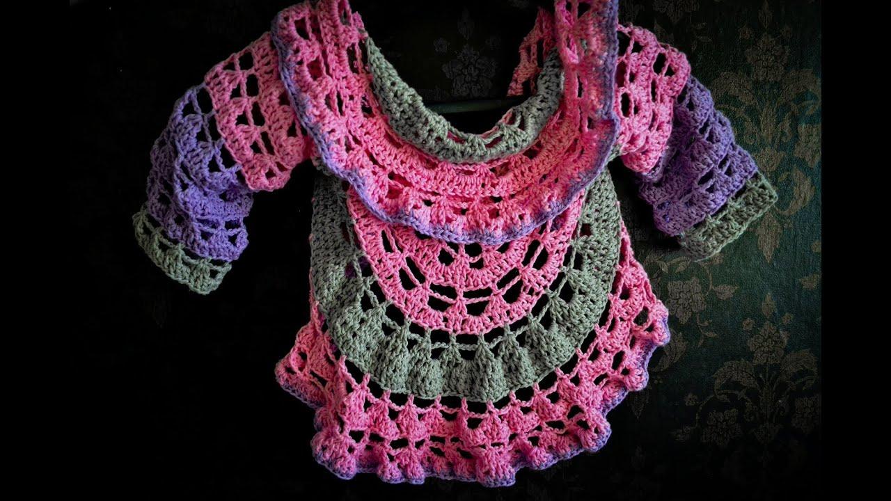 f7915a26cee48 Sweterek z koła na szydełku/ cardigan crochet Subtitles Eng - YouTube