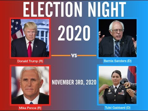 Election Night 2020 | Donald Trump vs Bernie Sanders