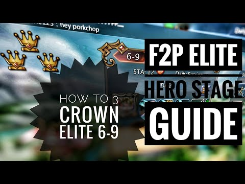 Lords Mobile - F2P 3 Crown Guide For Elite Chapter 6-9
