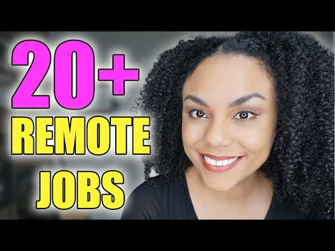 20 Online Work From Home Jobs And Remote Opportunities! Work From Home 2020!