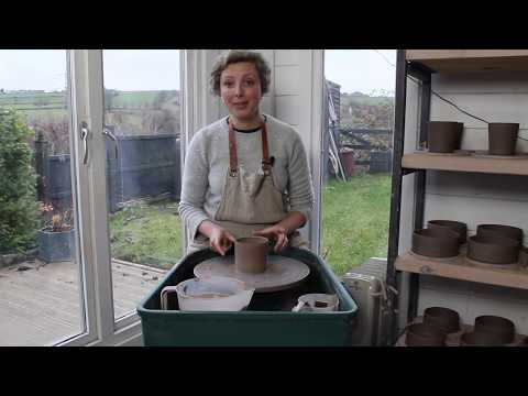 Pottery: Throwing on the Wheel The Basics - How to Throw a Cylinder.