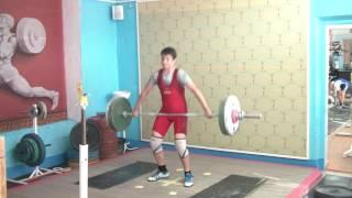 Мезенцев Алексей, 13 лет, с в  66 Рывок 60 кг