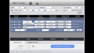 DVR / NVR DAHUA - HDD calculator - Neosis.ro