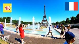 ⁴ᴷ Paris walking tour 🇫🇷 Eiffel Tower, France 4K