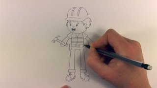 R.E.A.P: How to Draw a Cartoon Construction Worker