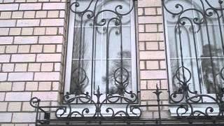 Кованые решетки на окна и балкон(Кованные решетки на окна и двери, решетки на окна и балконы, кованные козырьки, козырьки, козырек, ворота..., 2014-01-27T11:47:28.000Z)
