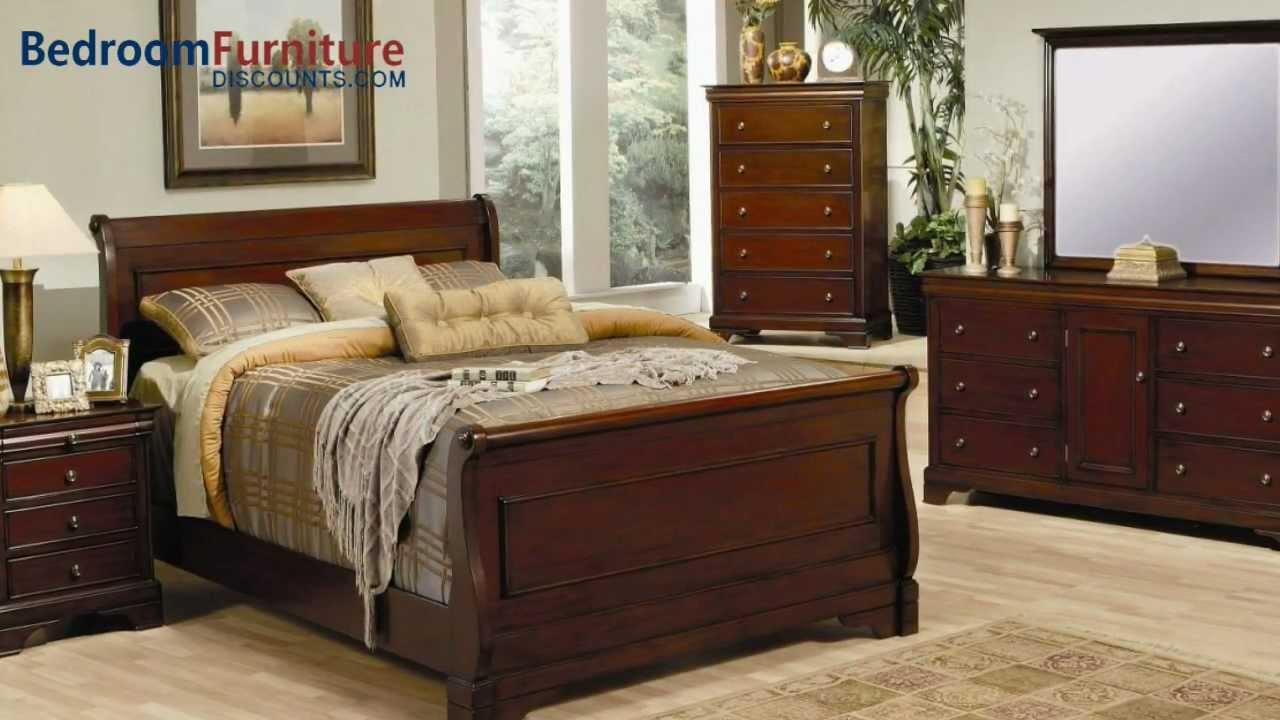 coaster versailles sleigh bedroom set in mahogany youtube