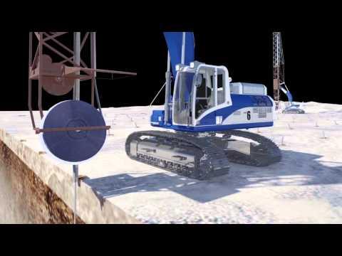 SoilWicks Prefabricated Vertical Wick Drains Installation 3D