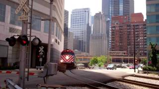 Trains At Canal Street In Downtown Chicago July 14, 2011