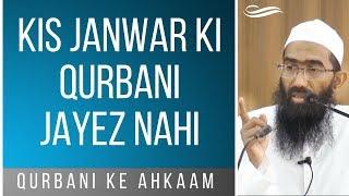 Qurbani ke liye kaun sa janwar jayez nahi | Abu Zaid Zameer