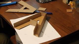 как сделать объемную букву а из картона