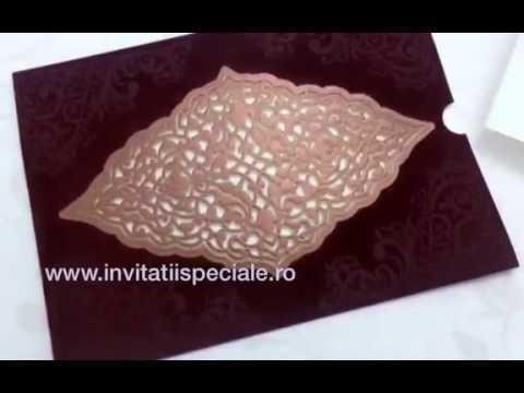 Invitatie Nunta Cu Catifea Youtube