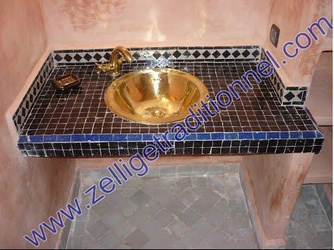 Lavabos del mosaico marroqu tradicional youtube for Mosaico marroqui
