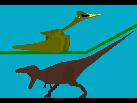 Tyranosaurus VS Quetzalcoatlus