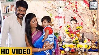 'Afsar Bitiya' Actress Mitali Nag Celebrates Ganpati With Family