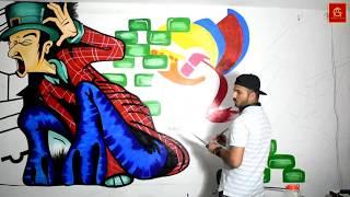 كيفية إنشاء نمط مجانا مهرج (الجدار) الرسم التعليمي | G-AhujaArts | 2K18