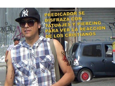 Predicador llega disfrazado con tatuajes y piercing (Experimento social)