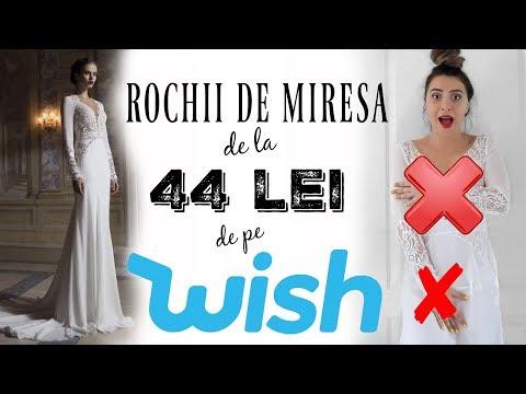 Rochii de mireasa de la 44 lei de pe wish | Ce comanzi vs ce primesti