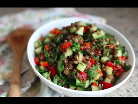 Healthy & Fresh Lentil Salad Recipe | GetFitWithLeyla
