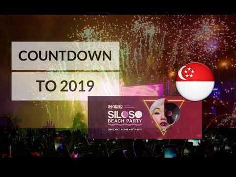 Siloso Beach Party Countdown to 2019 FULL FIREWORKS | Sentosa, Singapore