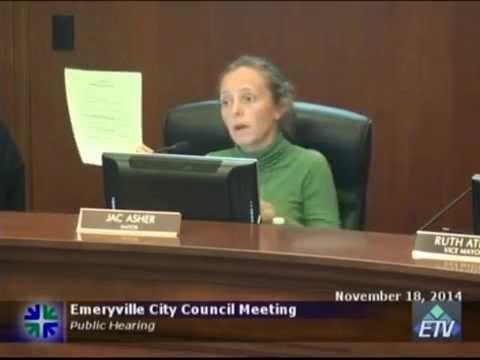 ECCL- Request for Noise Waiver - Nov 18, 2014 - Emeryville City Council